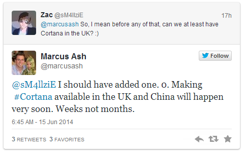 Screenshot 2014 06 16 00.05.00 Microsoft executive says Cortana will be available in the UK and China within weeks