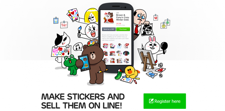 Screenshot 2014 06 27 12.17.58 730x361 Line extends sales of user created stickers to the US, UK, Brazil and 6 other countries