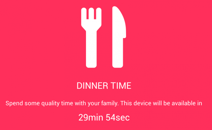 Screenshot 2014 06 09 17 50 23 730x448 DinnerTime app forces your kids from their phones and asks them to eat with the rest of the family