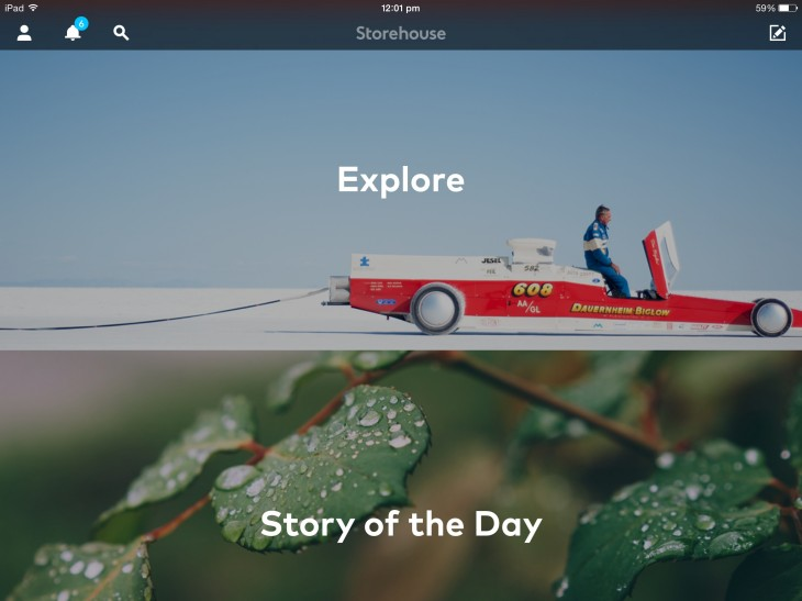 Storehouse 1 730x547 Storehouse, the beautiful visual storytelling iPad app, gets a refresh with emphasis on discovery