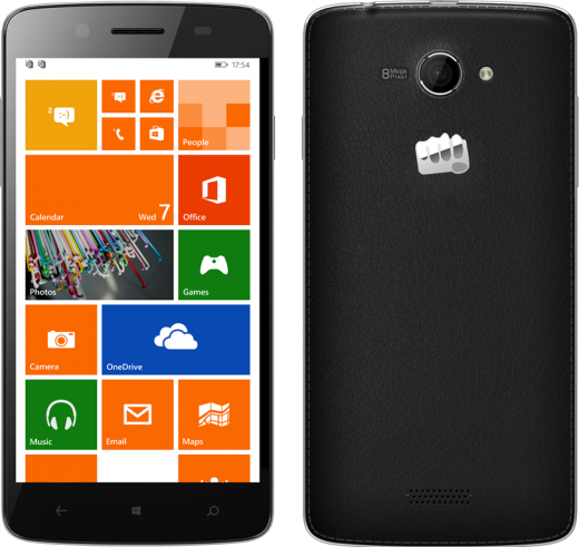 W121 Image 34BCA385 520x491 Micromax becomes the first Indian phone maker to launch Windows Phone devices