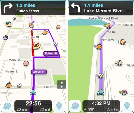 Waze Balls 520x438 Googles community driven mapping app Waze now lets you pledge allegiance to your World Cup team