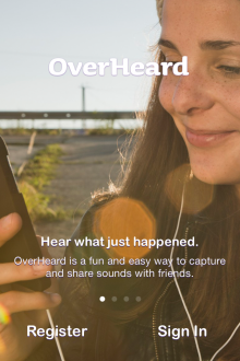 a2 220x330 OverHeard is a fiendishly simple sound sharing app that wants to do for audio what Vine did for video