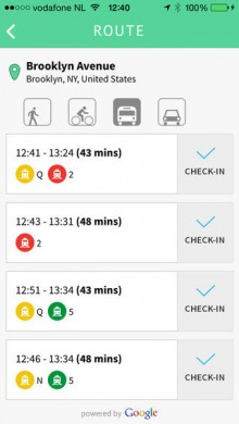 Passenger for iPhone not only logs all your journeys, it also lets you ask friends for directions