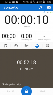 b4 220x391 Runtastic now invites you to beat your previous times, and shows your runs on Street View too