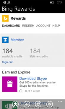 baw 220x366 Microsoft launches Bing Rewards app for Windows Phone, 5 months after iOS and Android