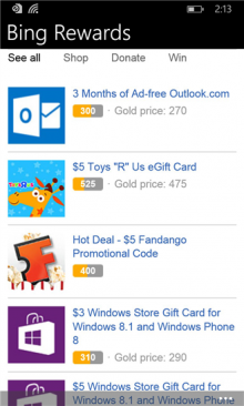 bawz 220x366 Microsoft launches Bing Rewards app for Windows Phone, 5 months after iOS and Android