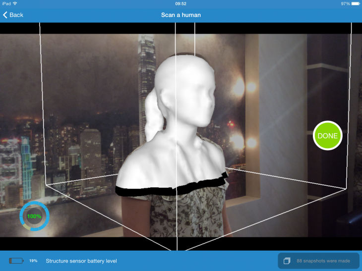 body scan 730x547 You too can create 3D images with this user friendly iPad scanner