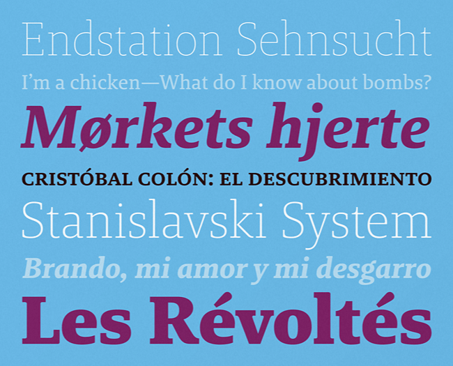 brando Our favorite typefaces from May 2014