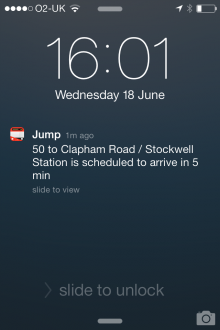 d8 220x330 Jump for iPhone is a slick, real time bus tracker for London dwellers