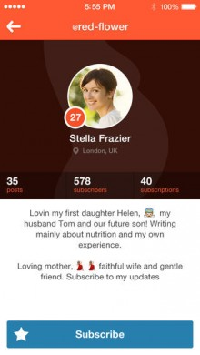Preggie for iPhone is a social network for mums to be