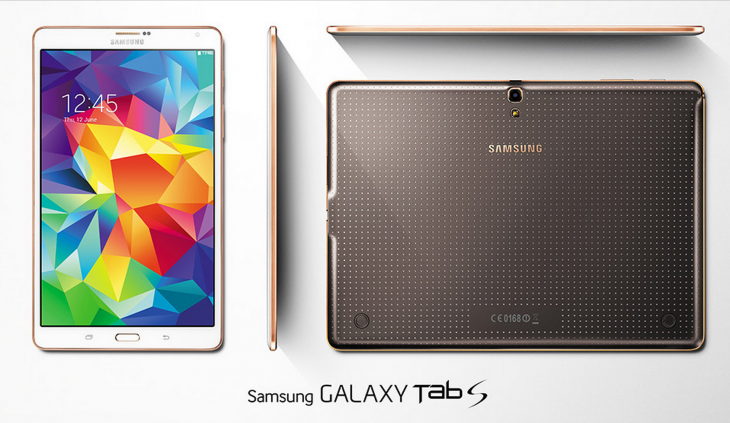 galaxy tab S 730x423 Samsung announces 8.4 inch and 10.5 inch Galaxy Tab S with Super AMOLED display