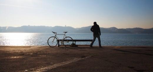 guy alone bike