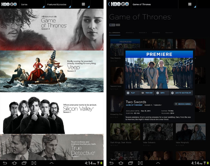 hbogo1 32 of the best apps for Googles Chromecast