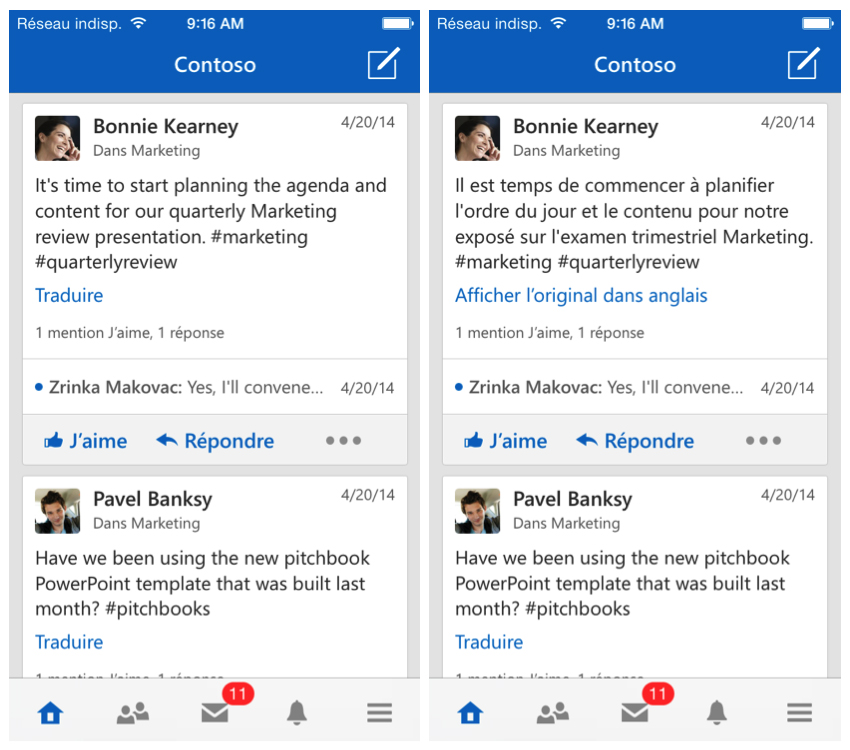 iPhoneScreenshots Yammer for Web now supports 28 languages, Android and iOS apps get message translation by Microsoft Translator