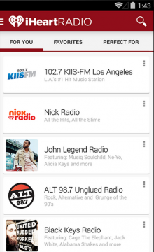 iheartradio 220x360 iHeartRadio adds new personalization features to its Android app as it preps Chromecast support