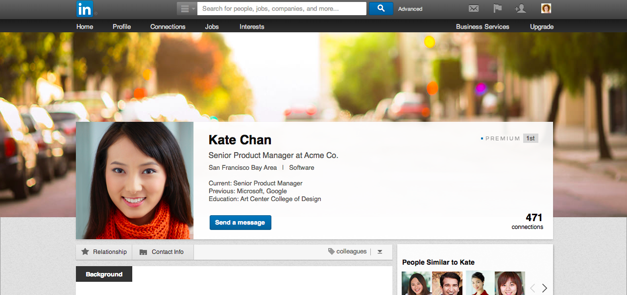 linked profile background LinkedIn revamps Premium Accounts to help paid profiles stand out from the crowd, adds $9.99/month subscription