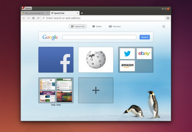 linux 23 1024x707 730x504 Operas Chromium based Web browser is now available on Linux