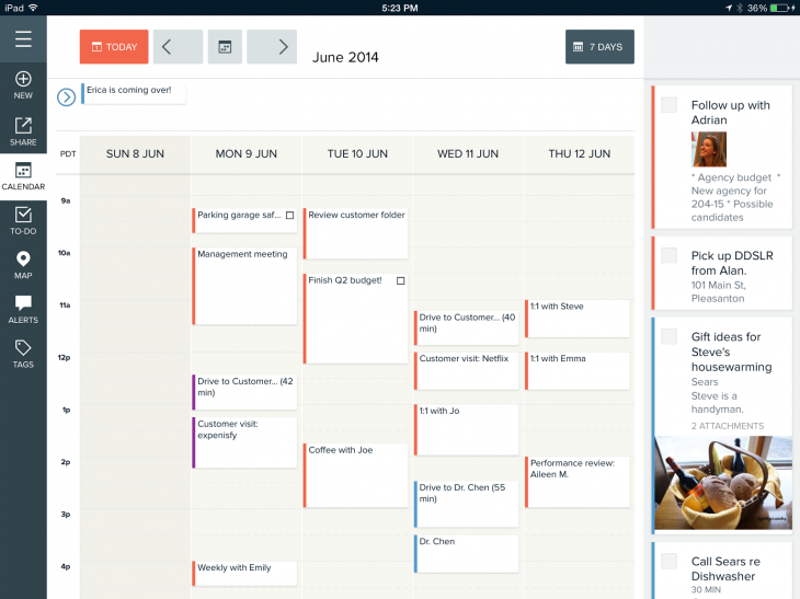 magneto ipad 730x547 Magneto brings its smart calendar app to the iPad and adds public transit travel times