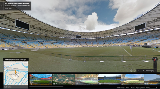 maracana 520x290 You can now explore all 12 FIFA World Cup stadiums in Brazil via Google Street View