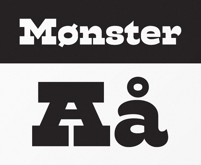 monster Our favorite typefaces from May 2014
