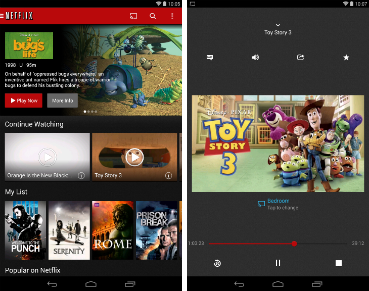 netflix1 32 of the best apps for Googles Chromecast