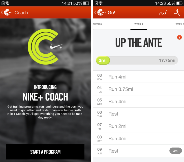 nikeplus1 Nike+ Running for Android now offers personalized training programs, tips and reminders