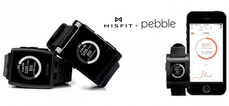 pebble 730x339 Pebble teams up with Misfit so you can use its e paper smartwatch as a full blown pedometer