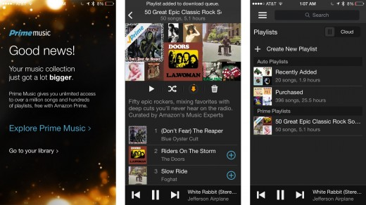 pm1 520x292 Amazon Cloud Player for iOS adds Prime Music streaming, is renamed to Amazon Music