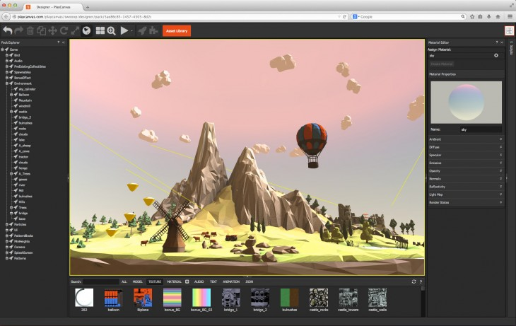 screen 730x461 PlayCanvas takes its WebGL video game engine open source