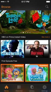 Amazon now offers free, ad supported first episodes in its Instant Video for iOS app