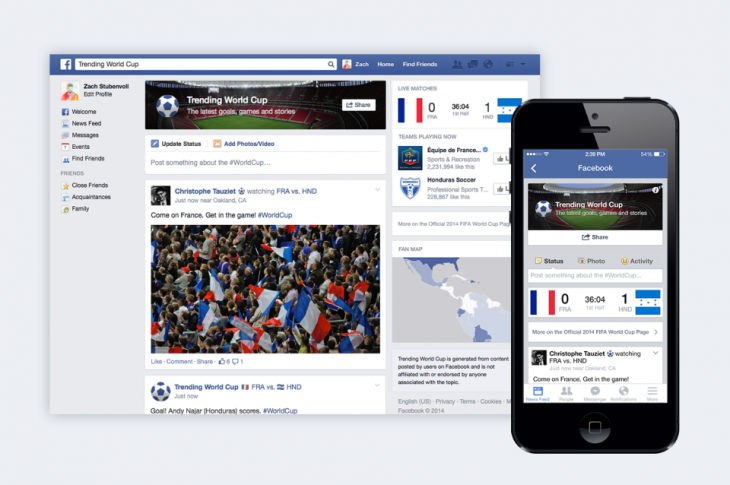 trending world cup 730x485 Facebook launches Trending World Cup hub for soccer fans to keep in touch with the action in Brazil