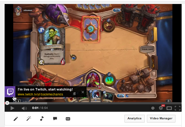 twitch1 Twitch now lets broadcasters notify YouTube viewers when they're streaming live