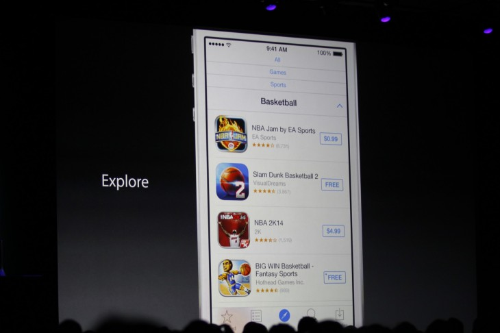 wwdc 2014 1075 730x486 Apple improves App Store discovery with Explore section, related searches and Editors Choice tags