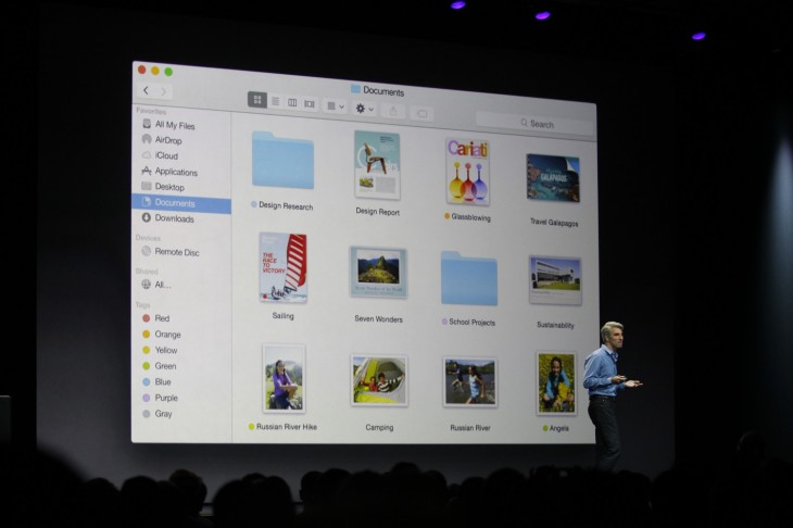 wwdc 2014 219 730x486 Apple announces OS X Yosemite with flat design, tight iPhone integration and more