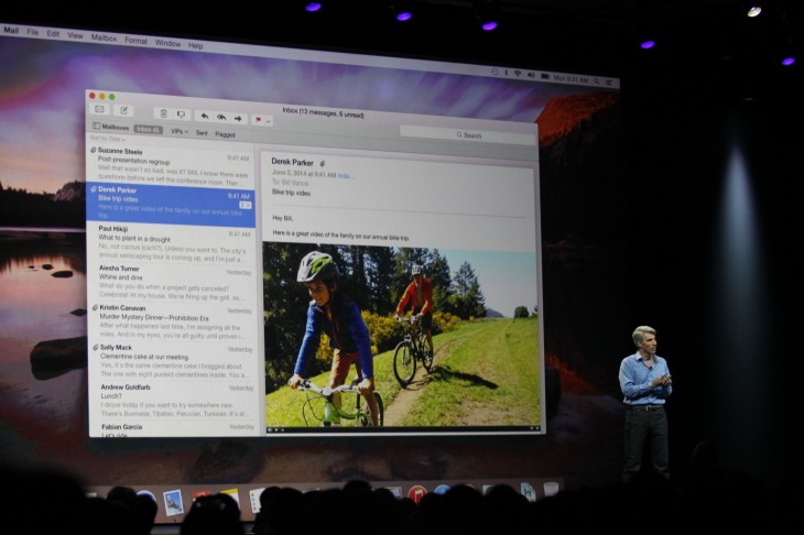 wwdc 2014 355 730x486 Apple announces OS X Yosemite with flat design, tight iPhone integration and more