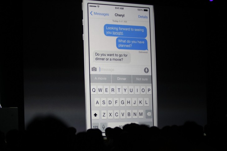 wwdc 2014 759 730x486 Apple revamps its iOS keyboard with contextual QuickType predictive texting