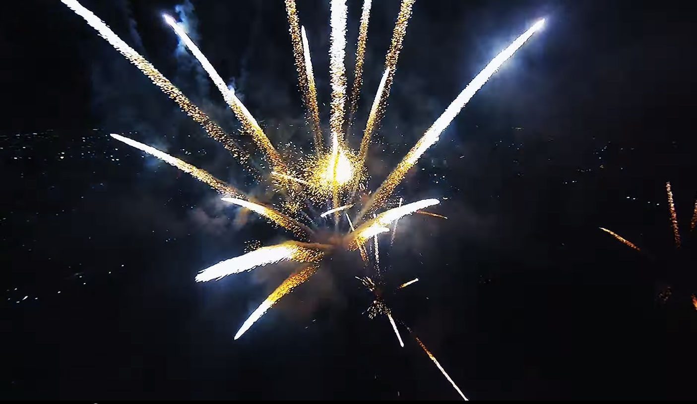 Fly Directly Into a Fireworks Display With This Drone Footage