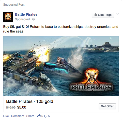 0710 fb offer You can now buy Facebook game upgrades directly from your News Feed