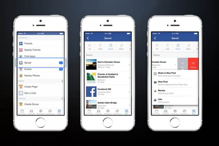 0721 save2 730x486 Facebook introduces Save, a new bookmarking feature to help tame your News Feed