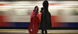 People Travel On London's Underground System