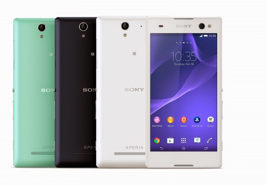 1 Xperia C3 Group Colours Front 520x361 Sonys new Xperia C3 smartphone wants to help you take the best selfies ever