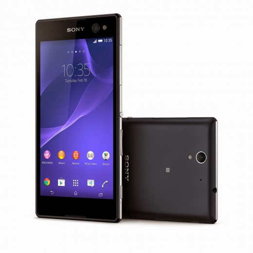 5 Xperia C3 Black 520x520 Sonys new Xperia C3 smartphone wants to help you take the best selfies ever