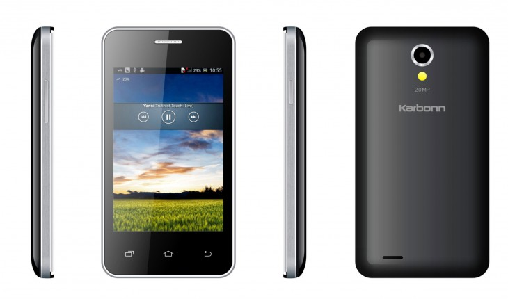 A50s Phone Picture1 730x430 Indias Amazon Flipkart teams up with Karbonn to launch Android smartphones from $45
