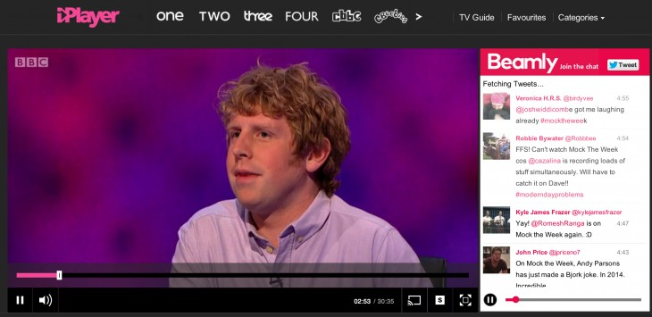 BBC iPlayer 730x355 Beamly OnDemand is a Twitter DVR for BBC iPlayer, ITV Player and 4OD