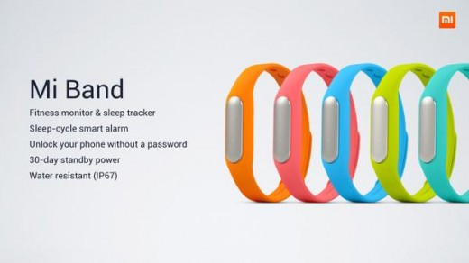 BtIpkjwCcAAizEo 520x292 Xiaomi announces its first wearable device, a $13 fitness band