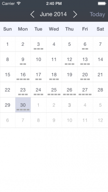 Calendar 220x390 Former Apple Design Award winner launches Hours to help ease the pain of time tracking