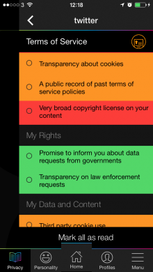 CitizenMe terms 220x390 CitizenMe: A little app with a big vision – to help you trust internet companies again