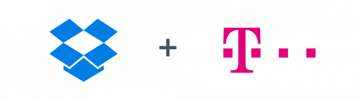 DT with Dropbox 730x201 Dropbox partners with Deutsche Telekom to preload its app on Android devices in Europe