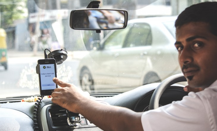 Driver Device2 1 730x443 Taking on Uber in India: How Ola Cabs is thinking local to battle a giant